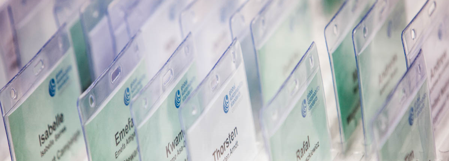 Name badges at the Global Sustainability Standards Conference © ISEAL Alliance