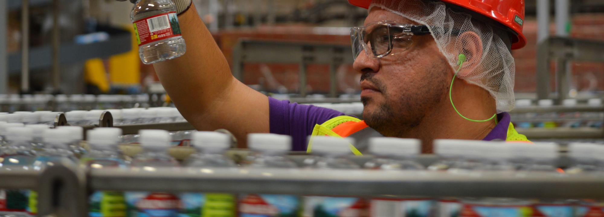 AWS certified Nestle Waters bottling plant in the USA © Nestle Waters