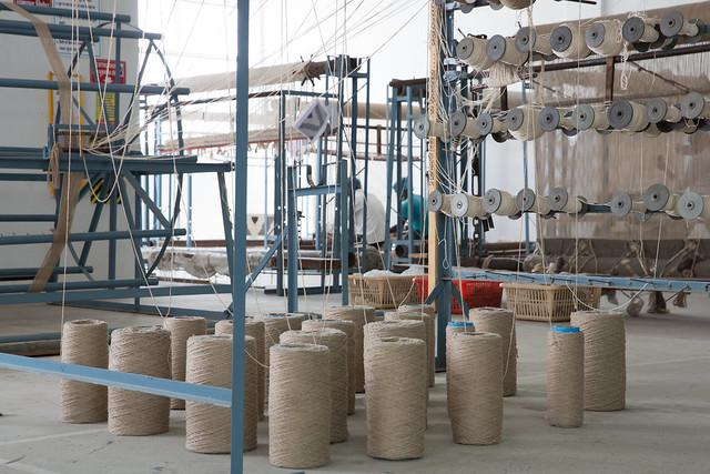 Spools of thread © Theodore Kaye for Fair Trade USA