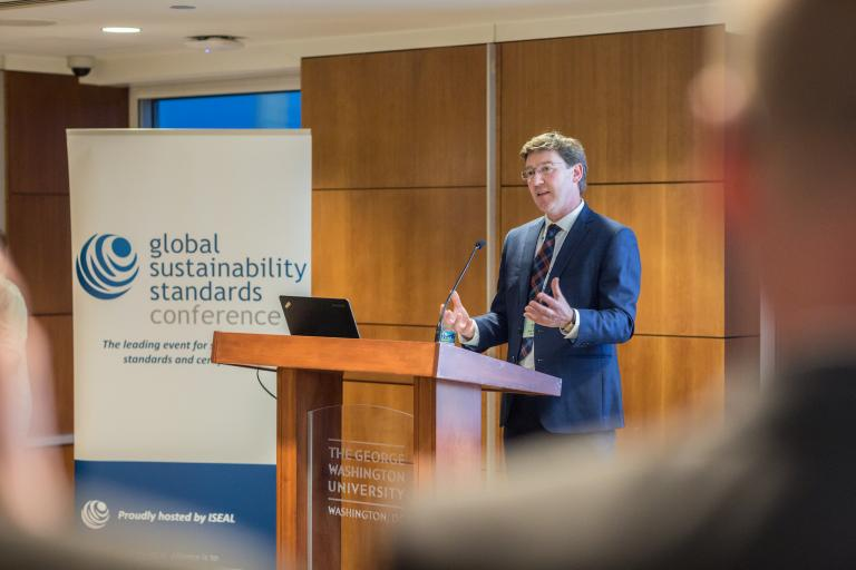 Jonathan Smith from GEO at the Global Sustainability Standards Conference 2016